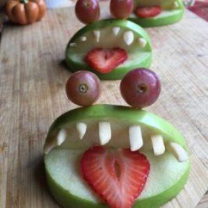 Healthy Halloween: Green Monster Apple Bites