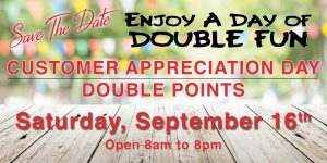Customer Appreciation Double Points
