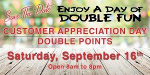 Customer Appreciation Double Points
