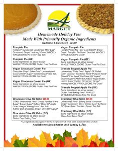 Holiday Pie Ingredients
