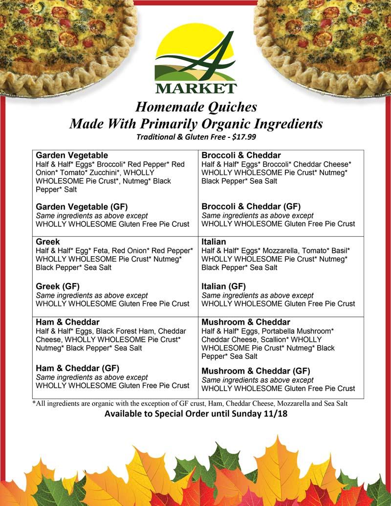 Holiday Quiche Ingredients