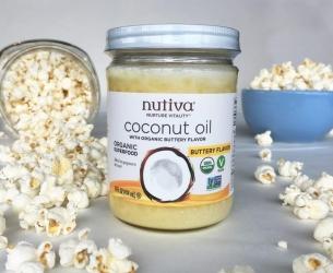 Nutiva Organic Buttery Coconut Oil Popcorn