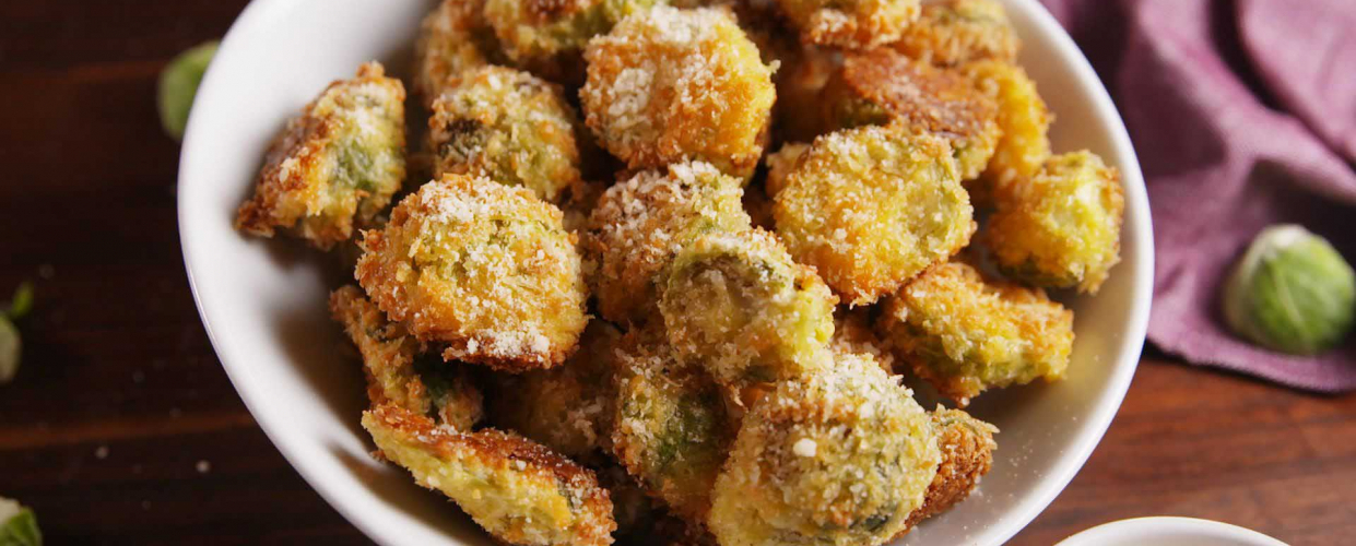 Parmesan Crusted Roasted Brussels Sprouts